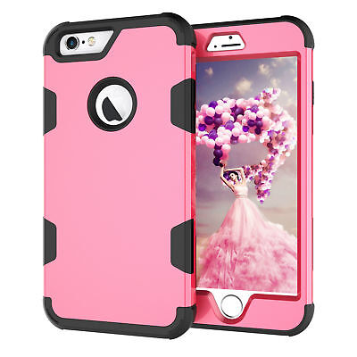 360 full Protect Shockproof Cover Hybrid TPU+ Rubber Hard Rugged Armor Phonecase