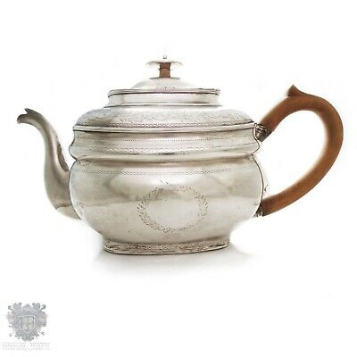 Georgian antique Irish sterling silver teapot large size Dublin 1807
