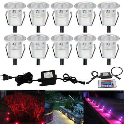 Lot de 10 LED Spot Encastrable Exterieur - Mini spot encastre Rgb 10 Kit