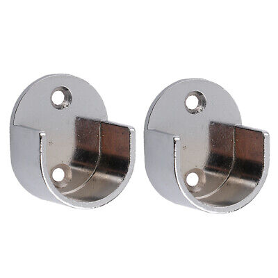 2pcs Support de Tringle à Rideau en Alliage de Zinc pour Barre de Store