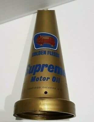 Genuine Old Golden Fleece Ram Supreme Motor Oil M.S. Plastic Oil Bottle Top NOS