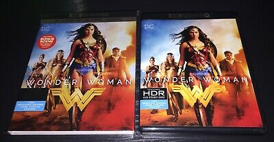 LIKE NEW Wonder Woman 2017 4K Combo pack with Slipcover! Ships in a box!