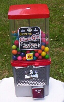 Vintage Genuine Komet Gumball Nut Candy Machine Coin Op 25 Cent Classic C.1960