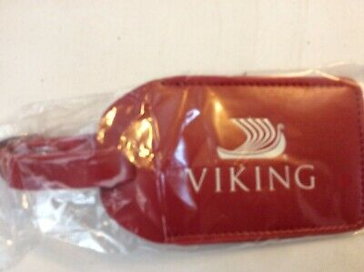 New Viking Cruises Red Leather Luggage Tags