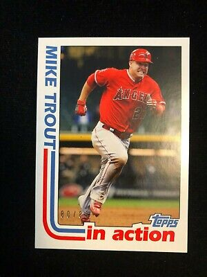 2019 Topps Transcendent Mike Trout VIP Party Through The Years 1982 In Action