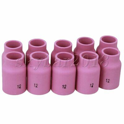 10pcs TIG Alumina Nozzle Ceramic Shield Cup Kit FIT WP-18 Welding Torch