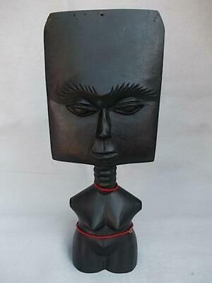 149 / Antique African Tribal Hand Carved Wooden Ashanti Akuaba Fertility Doll