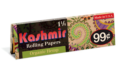 Kashmir 1 1/4 Rolling Papers Buy 4 @ Only $.97/Pack! USA Made and Shipped