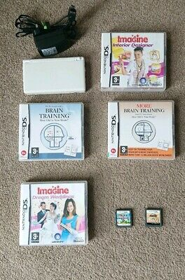 Nintendo DS Lite + Charger + 6 Games Including Super Mario Bros