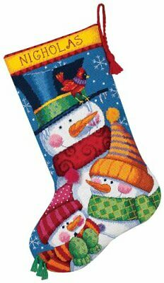 Dimensions Freezin' stagione Calza Needlepoint Kit-16 cucita Lungo In Lana & Th