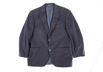 Jack Victor Prossimo 100% Cashmere Sport Coat Blazer Navy 42R 2 Button 2 vent