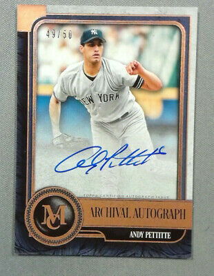 2019 Topps Museum Collection ANDY PETTITTE On Card Auto 49/50 Yankees