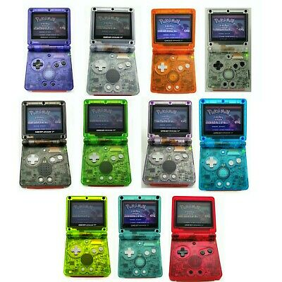 Nintendo Game Boy Advance GBA SP Advance System Transparent Clear Pick A Color!