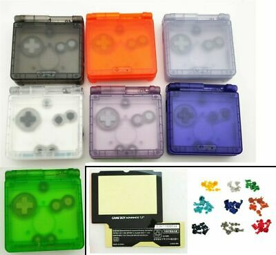 GBA SP Game Boy Advance SP Replacement Housing Shell Clear Pick A Color! USA!