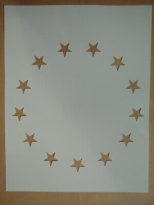 """Betsy Ross Flag 13 Stars 8.5"""" x 11"""" Stencil FAST FREE SHIPPING"""