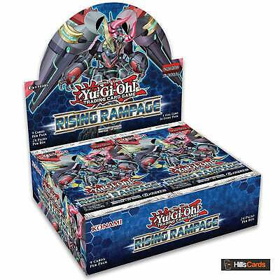 YuGiOh Rising Rampage Sealed Booster Box of 24 Packs | 1st Edition | TCG Cards