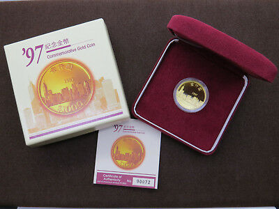 1997 $1000 Commemorative Gold Coin Hong Kong Monetary Royal Canadian Mint RCM