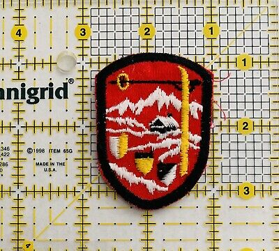 Winter Mountains Skiing ⛷ Shield Ski Lodge Sew On Patch Embroidered New