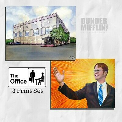 The Office Pam's Watercolor Painting Scranton Dwight Schrute Manager Farms Art