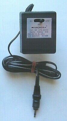 Archer Used Pug in power supply  240v AC to DC 6-9-12 volt 300ma.Cat No 270-9552