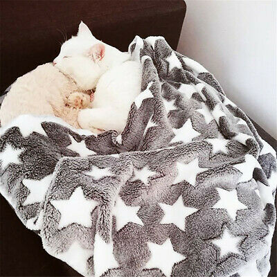 UK Pet Mat Pentagram Print Blanket Cat Dog Puppy Warm Soft Star Blanket Cushion