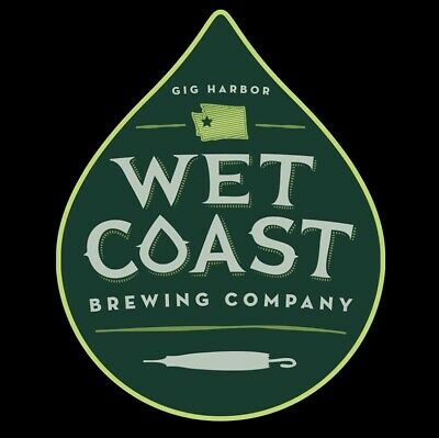 Wet Coast Brewing Sticker decal craft beer Brewery Micro Gig Harbor Washington