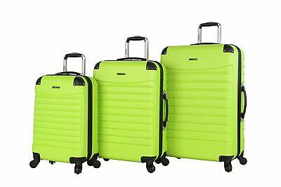 Ciao Luggage Voyager 3 Piece Hardside Spinner Suitcase Set Collection (Voyager L