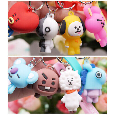 Cute PVC Cartoon Animal Keychain Keyring Bag Kawaii Pendant Key Ring Chain