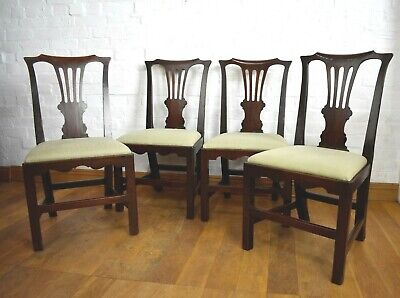 Beautiful Antique Georgian style dining chairs x 4