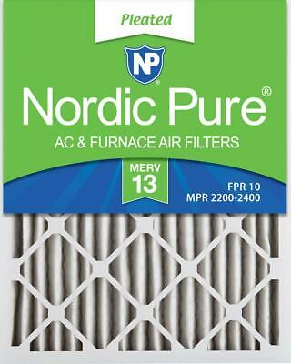 Nordic Pure 16x24x2 MERV 13 Pleated AC Furnace Air Filters, 2-Inch, 3 Pack