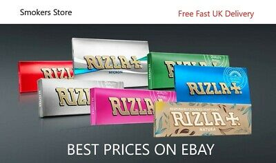 1/5/10/20/50 RIZLA Regular RED GREEN SILVER BLUE Cigarette Rolling Papers Rollup