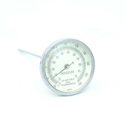 Darkroom Thermometer Procolor Large Dial & Adjustable, Photography Film, Good!