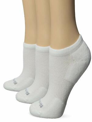 NO NONSENSE Set of 6 Pairs Women/'s no show white socks Size 4-10 Made in USA NWT