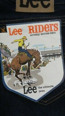 Vintage 1980's LEE Riders W 34 Men's Jeans New with Label and Grace Bros Tag