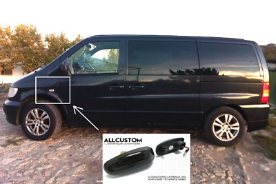 2 x SMOKED BLACK SIDE MARKER LED LIGHTS TURN SIGNAL for MERCEDES VITO W638 96-03