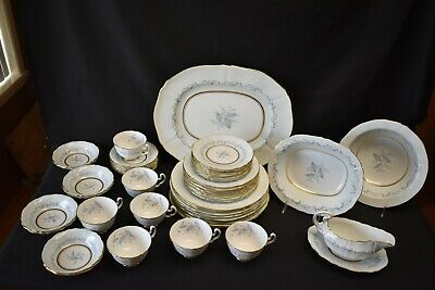 Northumbria Morning Mist Plates Cups Bowls -  Large Dinnerware Set - 51 Pieces