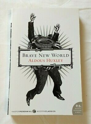 Brave New World by Aldous Huxley ~ Paperback Book ~ P.S. Insights & Interviews