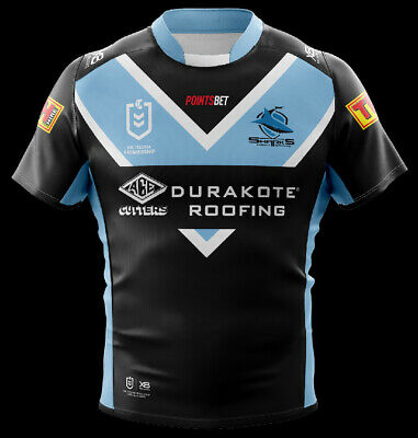 Cronulla Sharks NRL 2019 X Blades Away Jersey Sizes S-6XL! In Stock