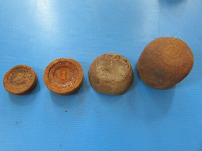 Lot of 4 Vintage Stacking Scale Weights
