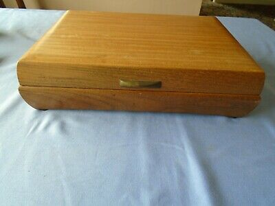 Vintage Wooden Canteen Of Cutlery Box Wood Storage Box Held Oneida Community