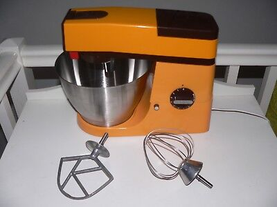 KENWOOD CHEF - A901e - Tangerine with Brown trim - Excellent Condition.