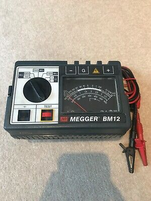 Megger BM12 Multi-Voltage Insulation & Continuity Tester TESTED WORKING