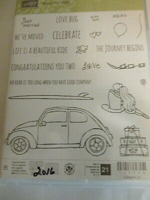 BEAUTIFUL RIDE Stampin Up New VW Big Beetle Wedding Journey Moving Love Car