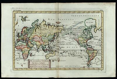 World Map Sea of West Admiral de Fonte named c.1750 Explorers tracks distortions
