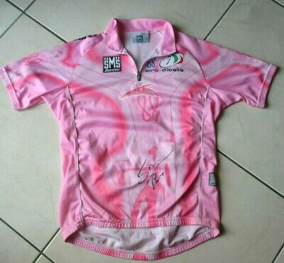 Pink jersey maglia rosa 88° giro signed P.Savoldelli (no tour yellow froome)