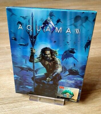Aquaman HDzeta Exclusive Blu-ray Steelbook Double Lenticular 2D/3D New Sealed