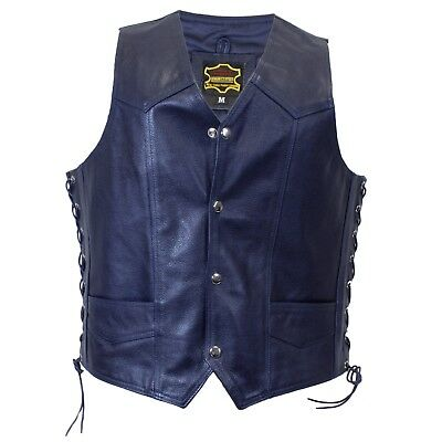 Blue Knights Genuine Leather Vest Brand New - Dark Blue