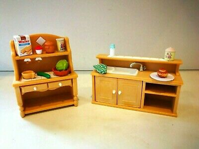 Sylvanian Families Kitchen Sink and Dresser Unit with Accessories