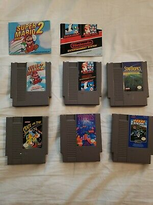 6 NES games lot!! Original Nintendo games!! Tested and work!! MARIO and more!!!!