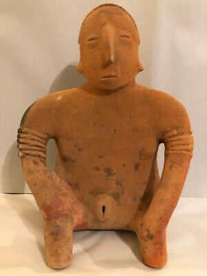 Large RARE Pre Columbian seated Female figure ,